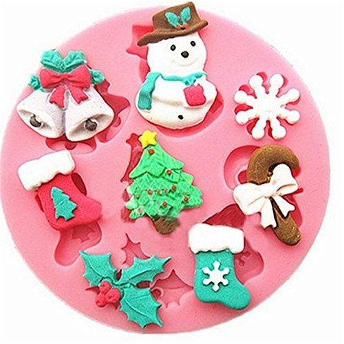 Molde de silicona para galletas de navidad