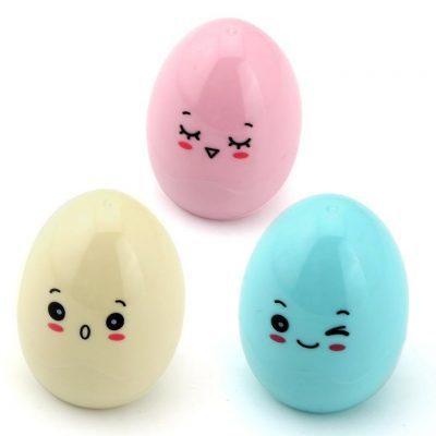 Set de 3 sacapuntas con forma de huevo