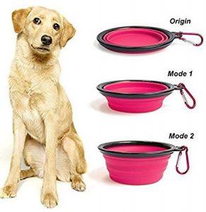 Comedero plegable para mascotas de silicona