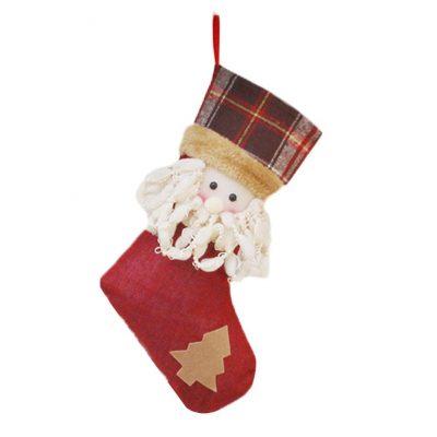 Calcetín decorativo de Papa Noel