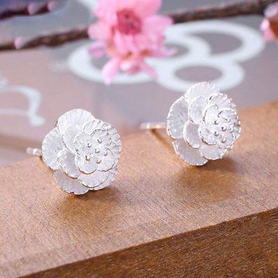 Pendientes de plata flor de cerezo