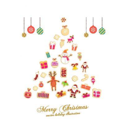 Vinilo de árbol de navidad