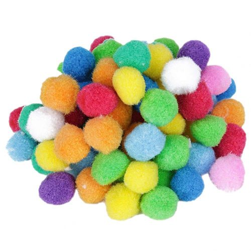 Pompones de felpa de colores