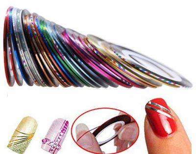 Set de 30 rollos de cinta para uñas