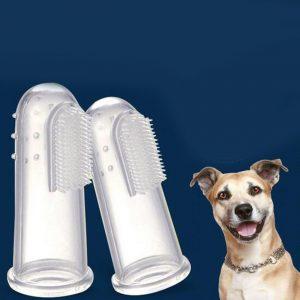 Cepillo de dientes de silicona para mascotas