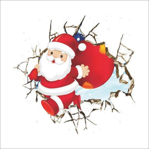 Pegatina decorativa de Papa Noel
