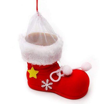 Bolsa para caramelos de calcetín de Navidad