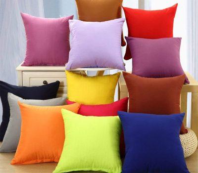 Funda de colores lisos para cojines