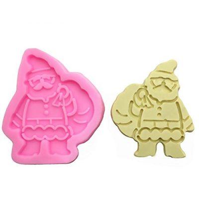 Molde de galletas de silicona de Papá Noel