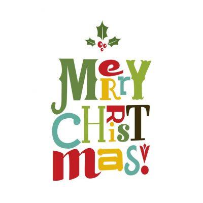 Vinilo decorativo de Feliz Navidad