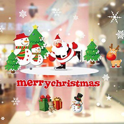 Pegatinas para cristales decorativos de Navidad