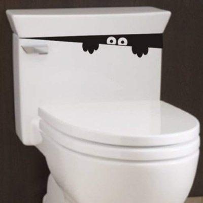 2 pegatinas del monstruo del WC