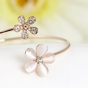 Pulsera de flor de 5 petalos