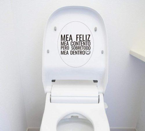 Vinilo irónico decorativo para la tapadera del WC