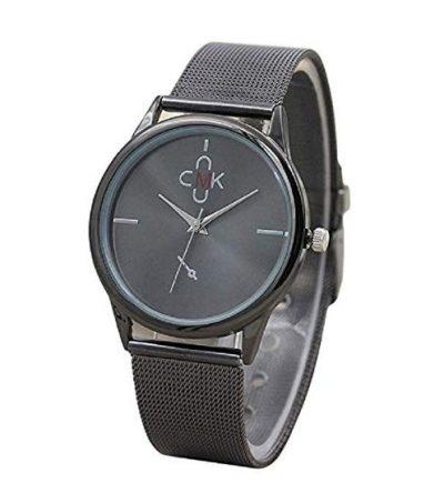 Reloj de cuarzo de acero inoxidable con pulsera de banda de malla
