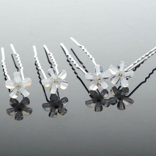 5 Horquillas de flores de cristal
