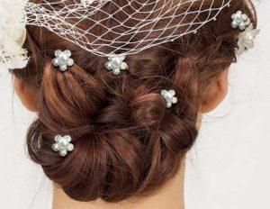 20 Horquillas para el pelo de perlas y brillantes